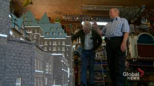 Calgary man selling handmade replica of Banff Springs Hotel: 'It was a lot of work!'