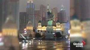 Storm brings rare snowfall to Las Vegas