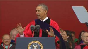 Obama gives Rutgers commencement speech, takes swipe at Trump