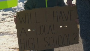 Calgary parents protest lack of high school in north central Calgary