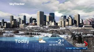 Edmonton early morning weather forecast: Wednesday, March 7, 2018