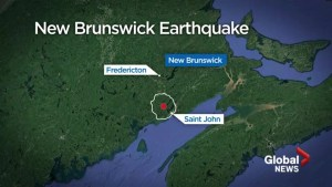 Minor earthquake felt outside Saint John