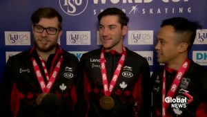 Canadian trio set world record on opening day of Calgary long track speed skating World Cup