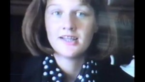 Recently unearthed footage shows a young aspiring broadcaster Julie Brown