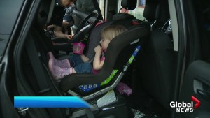 West Kelowna firefighters help fit kids into car seats