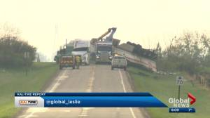 Highway 564 between Highway 791/R.R. 281 blocked