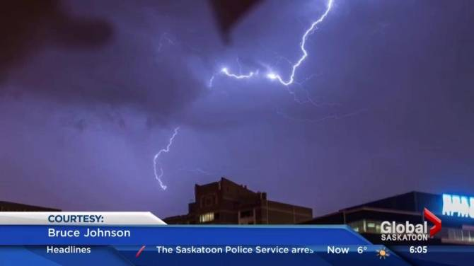 Click to play video: May long weekend storm activity in Saskatchewan