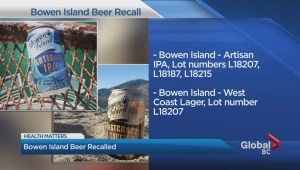 Bowen Island beer recalls cans over defects