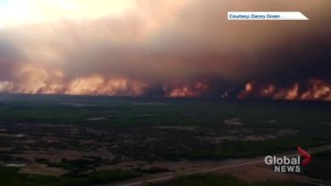 Video shows extent of wildfire burning in northern Alberta