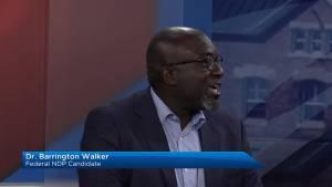 Federal NDP candidate Dr. Barrington Walker visits Global News Morning