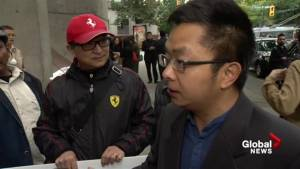 Dozens of protester outside Vancouver court ahead of Ibrahim Ali appearance