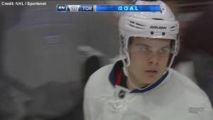 Auston Matthews becomes first NHL player to score 4 goals in debut