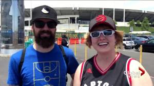 Basketball fans travel from Edmonton to California for NBA Finals