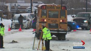Residents raise concerns about west Edmonton street after 2 teens struck by school bus