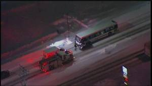 Pedestrian in critical condition after hit by bus near King Edward Street