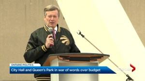War of words wages between John Tory, Doug Ford