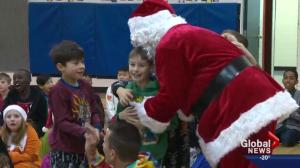 Santa surprises an Edmonton inner city school