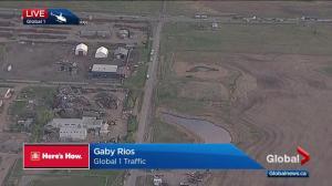 Crews investigate gas leak in southeast Calgary Tuesday