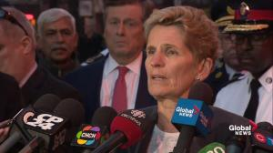 Ontario Premier Kathleen Wynne sends condolences to victims of van attack, thanks first responders