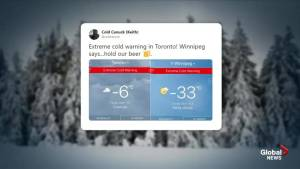 Winnipeg's freezing cold temperatures are colder than Mars