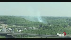 Brush fires in Edmonton's Mill Creek Ravine