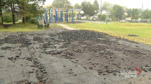 Broken asphalt at Halifax elementary school flagged as safety concern