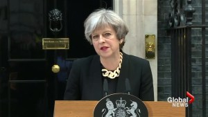 """UK PM May says """"enough is enough"""" in approach to UK terror threat"""