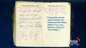 Lost diary of Edmonton soldier sheds light on Battle of Vimy Ridge