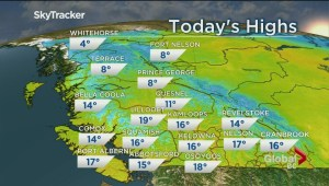 B.C. evening weather forecast: Apr 24