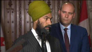 Jagmeet Singh seemingly didn't know his caucus' position on gun bill