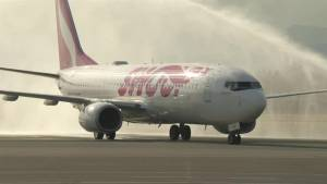 First flight for new low-cost Canadian airline
