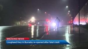 Fatal crash on Lougheed Highway