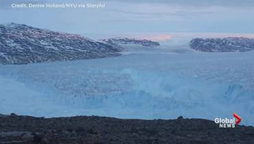 Europe heat wave moves over Greenland, causing massive ice