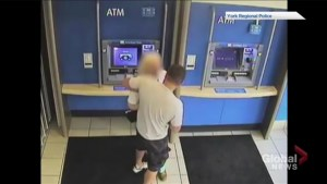 Police release video of alleged robbery of senior in Aurora, Ontario