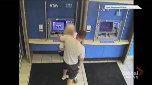 Police release video of alleged robbery of senior in Aurora, Ontario (00:43)
