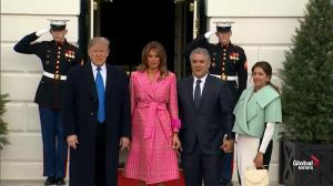 Donald, Melania Trump welcome President and First Lady of Colombia to White House