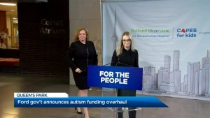 Ford government announces autism funding overhaul