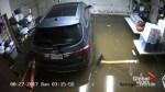 Time-lapse video shows Harvey rains flooding Houston garage