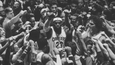 c8fda184bd8a WATCH  LeBron James huddles all of Cleveland in stirring new Nike ad ...