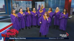 The People's Choir performs for Christmas