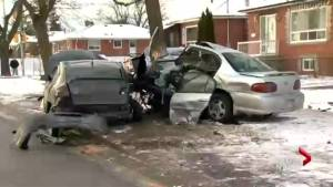 Driver killed in Scarborough crash, car wrapped around tree