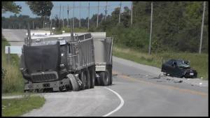 Driver seriously injured in collision on Hwy 36. in Lindsay