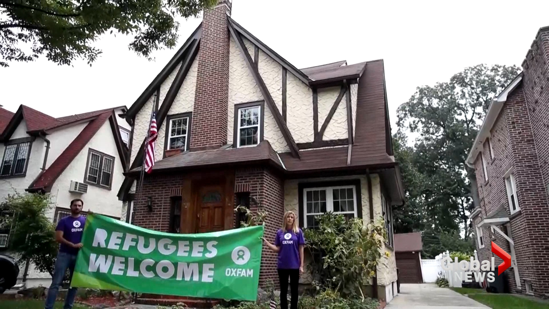 Oxfam rents President Donald Trump's childhood home for refugees