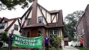Refugees stay in Trump childhood home