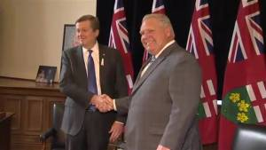 Ford, Tory all smiles as they meet to discuss range of topics