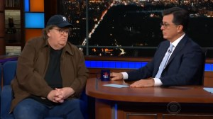 Michael Moore talks to Colbert about new documentary 'Fahrenheit 11/9'
