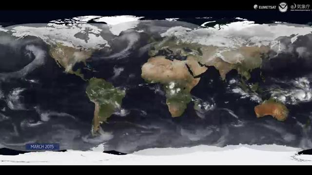 WATCH: An entire year of weather on Earth as seen from space