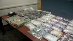 Saskatoon police, RCMP show off meth, cash from drug bust