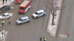 Protest blocks traffic in downtown Winnipeg (00:37)
