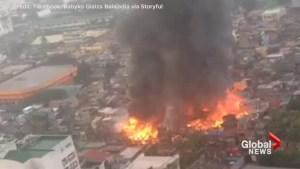 Major fire broke out in Philippines neighbourhood